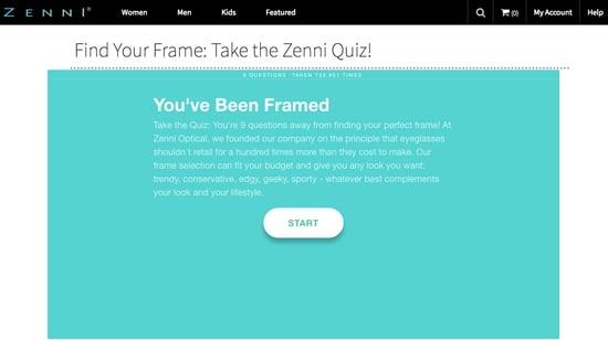 Zenni screen grab great e-commerce