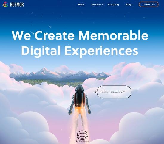 Huemor screen grab great e-commerce site